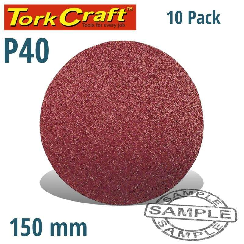 Tork Craft Sanding Disc 150Mm 40 Grit 10/Pk Hook And Loop Snatcher Online Shopping South Africa