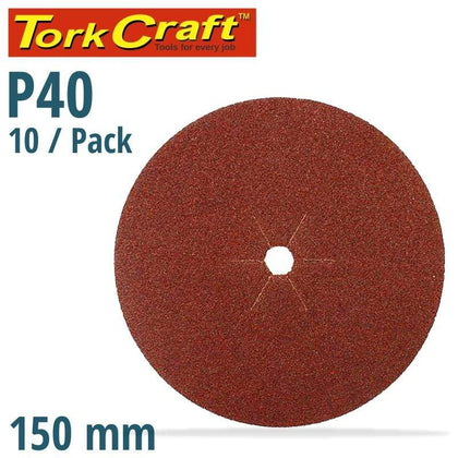 Tork Craft Sanding Disc 150Mm 40 Grit Centre Hole 10/Pk Snatcher Online Shopping South Africa