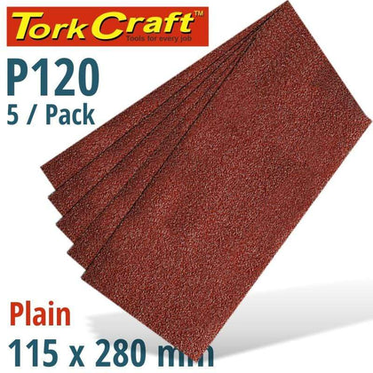 Tork Craft Sanding Sheet Orb 115 X 280Mm 120Gr Plain No Holes 5/Pk Snatcher Online Shopping South Africa