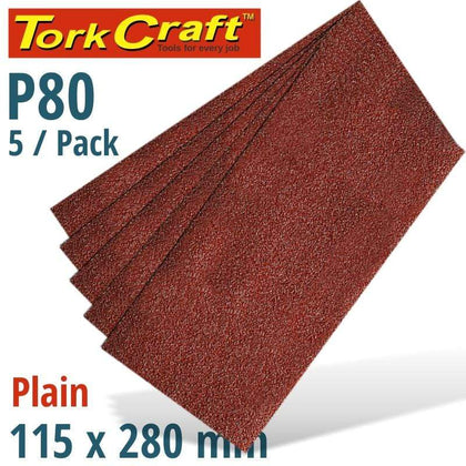 Tork Craft Sanding Sheet Orb 115 X 280Mm 80Gr Plain No Holes 5/Pk Snatcher Online Shopping South Africa