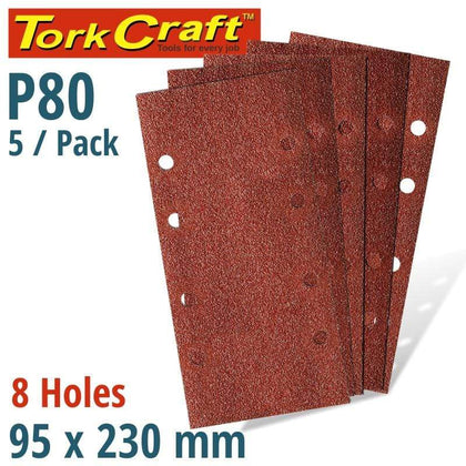Tork Craft Sanding Sheet Orb 95 X 230Mm 80Gr Plain With 8 Holes 5/Pk Snatcher Online Shopping South Africa