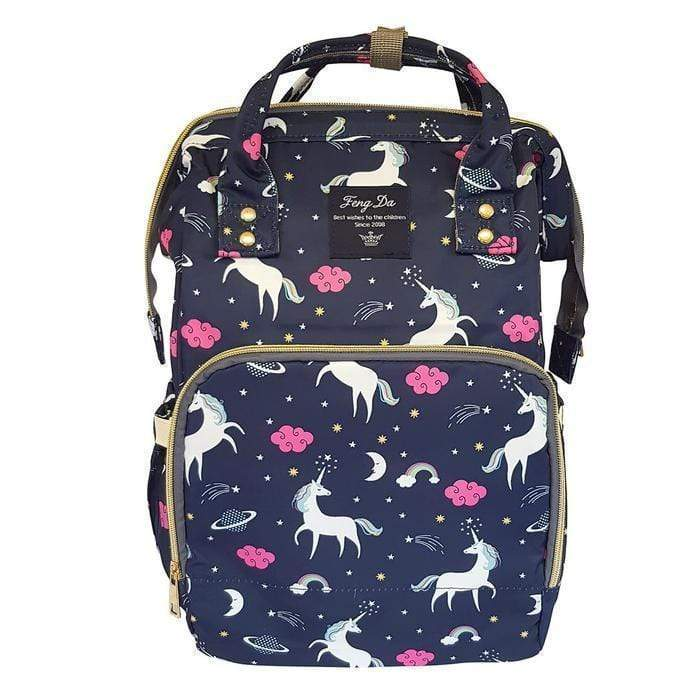 Unicorn Print Multi-Function Nappy Backpack Navy Snatcher Online Shopping South Africa