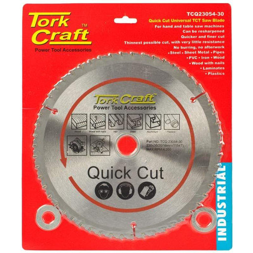 UNIVERSAL QUICK CUT TCT BLADE 230X54T 30-20 Snatcher Online Shopping South Africa