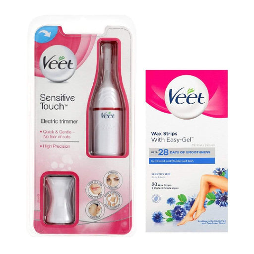Veet Wax Strips 20's Sensitive Skin And Electric Trimmer Bundle Snatcher Online Shopping South Africa