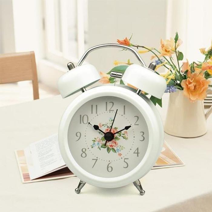 Vintage Floral Alarm Clock White Snatcher Online Shopping South Africa