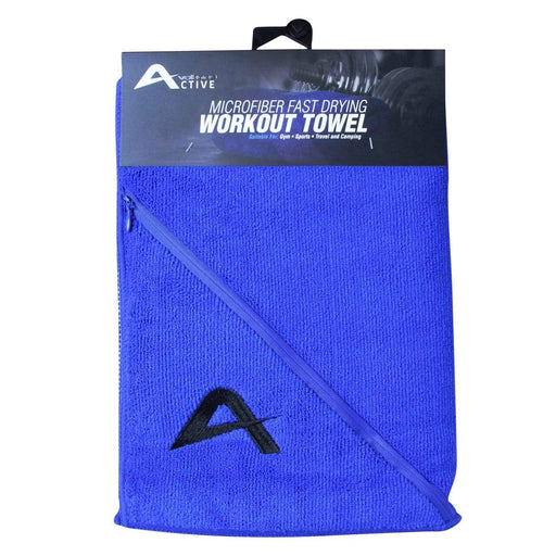 Volkano Active Fresh Series Zip Towel (Blue) Snatcher Online Shopping South Africa