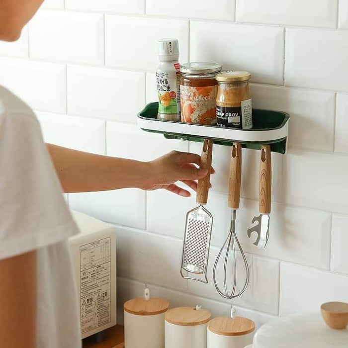 Wall Adhesive Shelf With Hooks Snatcher Online Shopping South Africa