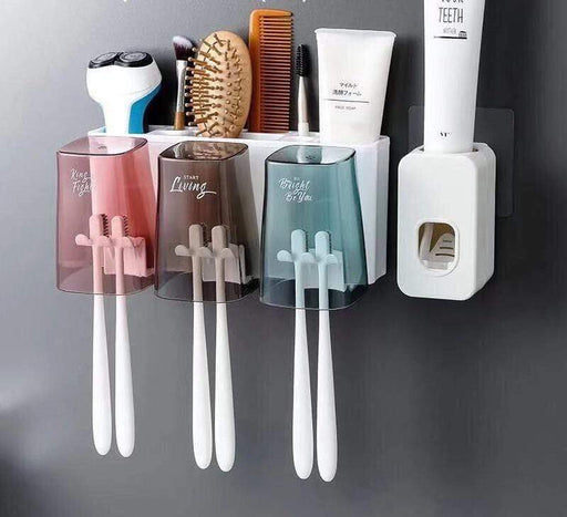 Wall-Mounted toothbrush Holder and Toothpast Dispenser Snatcher Online Shopping South Africa