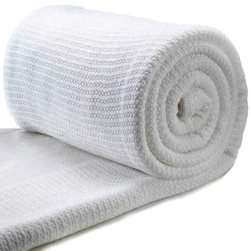 White Cotton Cellular Blankets Snatcher Online Shopping South Africa