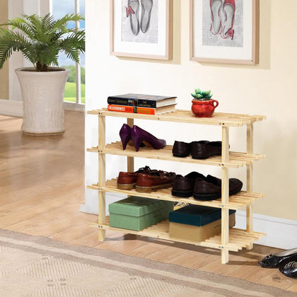 Wooden Shoe Racks 4 Tier Snatcher Online Shopping South Africa