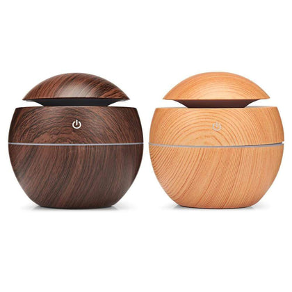 Wooden Ultrasonic Aroma Humidifier Dark Wood Snatcher Online Shopping South Africa