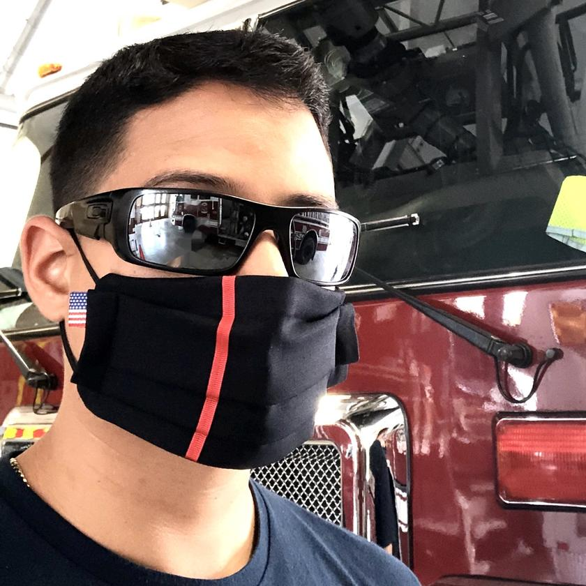 reusable face mask thin line