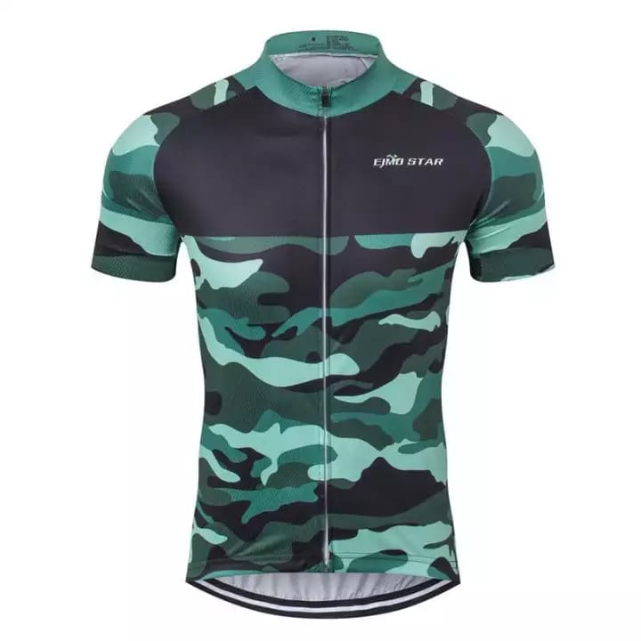 Green Camo Cycling Jersey
