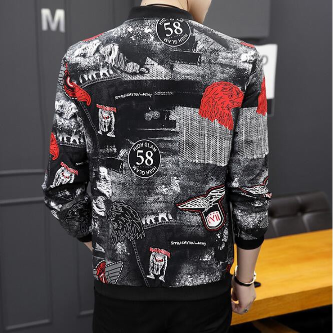 Men Eagle Bomber Jacket