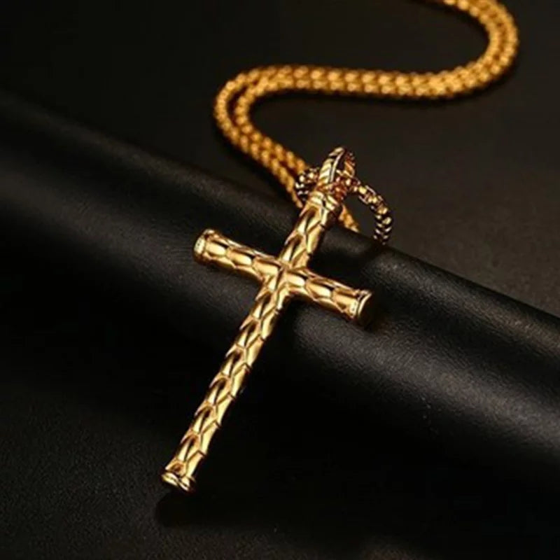 Men Polished Christ Necklace