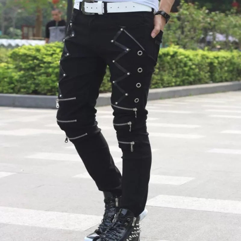 Men Multi Zip Jeans
