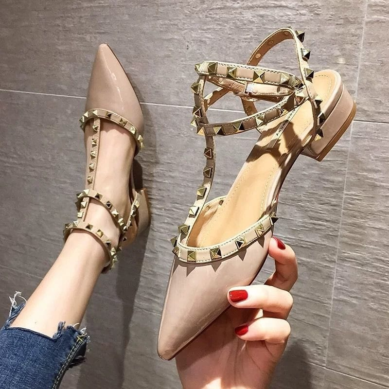 Ladies Studded Fashion Heels