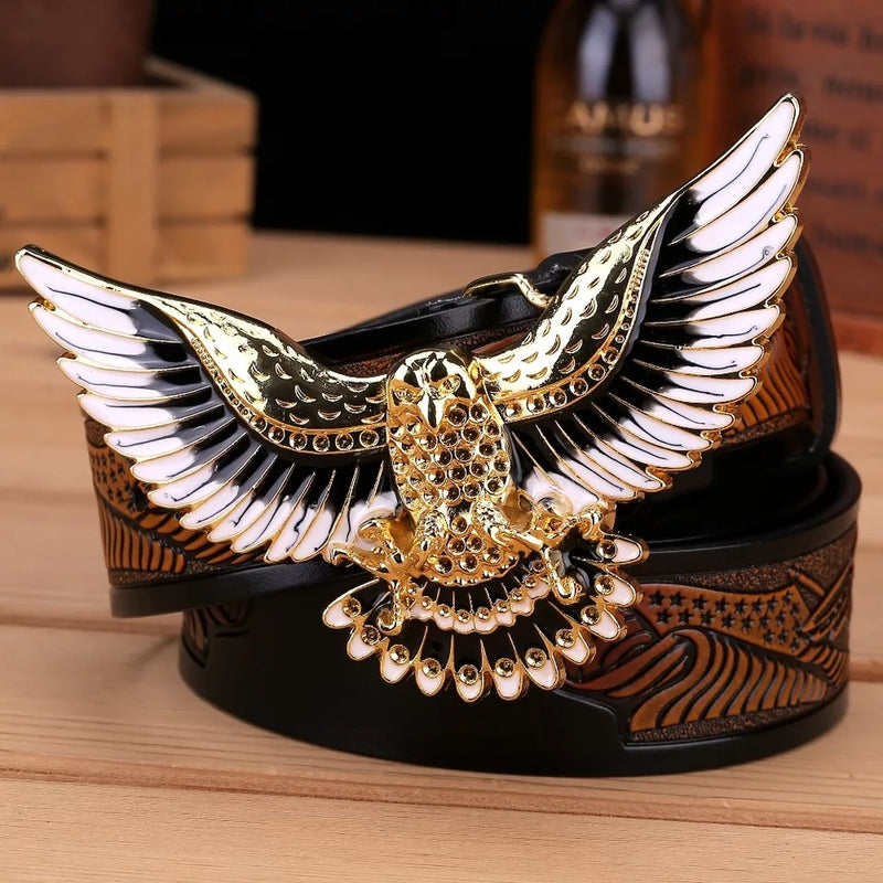 Men Bird Wings Belt