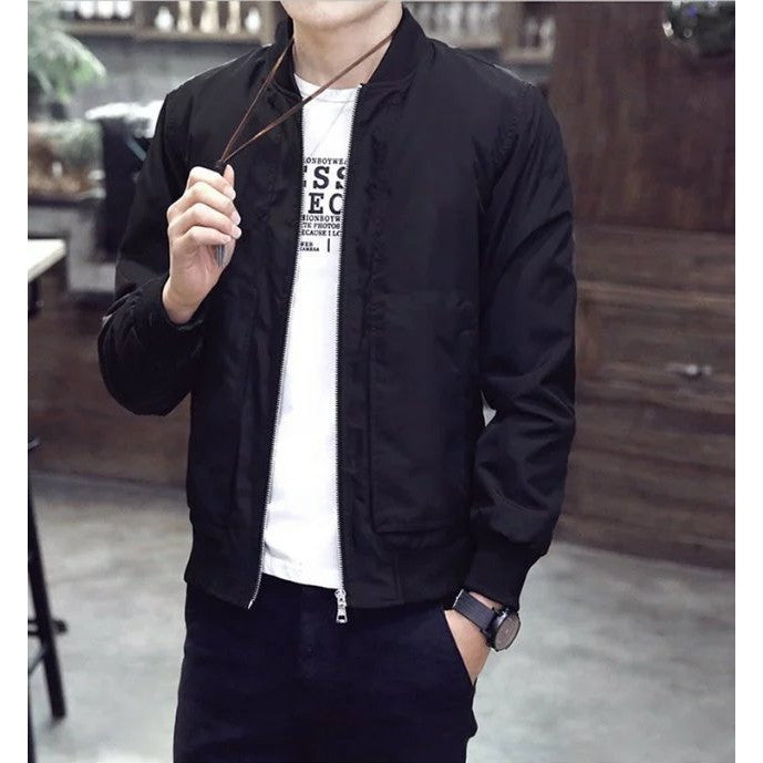 Men Korean Style Bomber Jacket