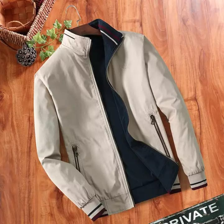 Men Zip Pocket Bomber Jacket