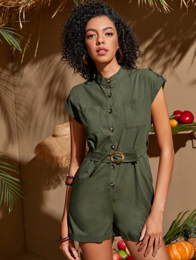 Green Romper Suit