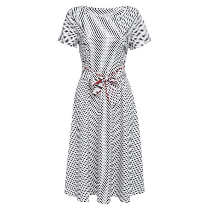 Ladies Polka Dots Midi