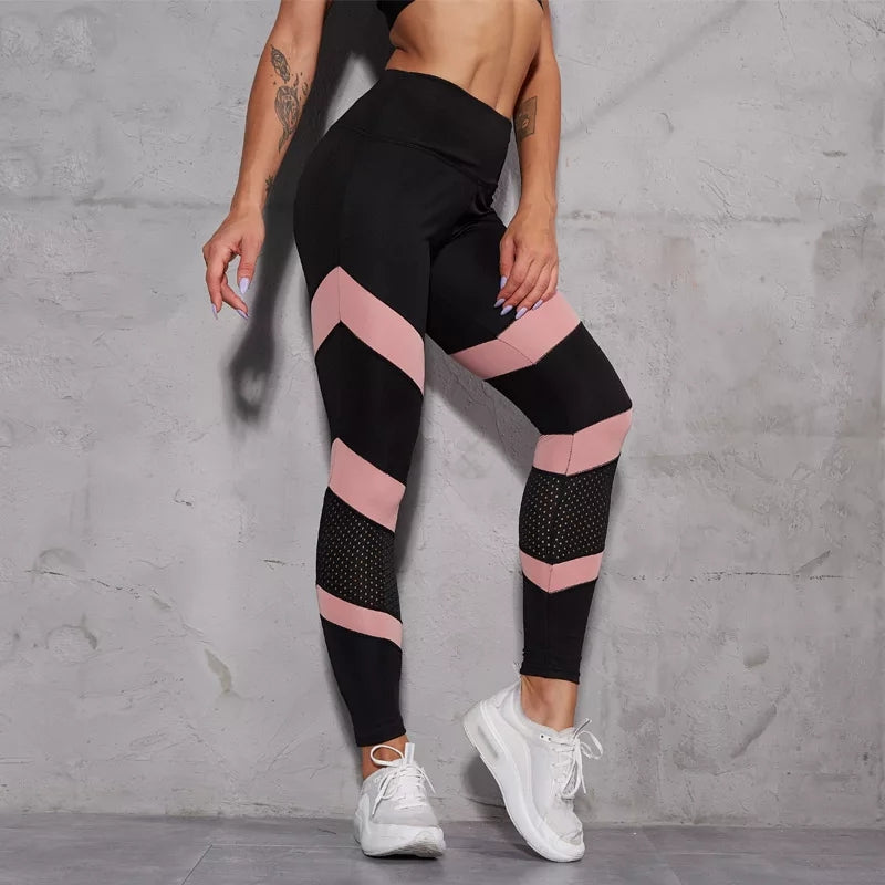 Ladies Pink Arrow Leggings