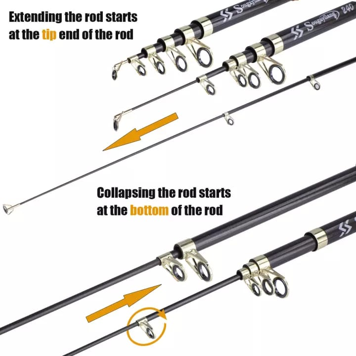 Fishing Rod Gold Black