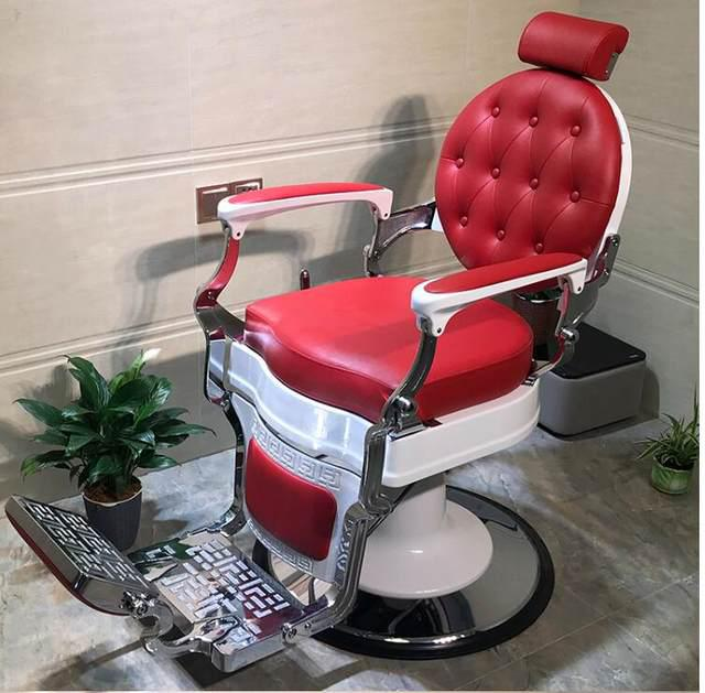 Red Retro Hairdresser Chair
