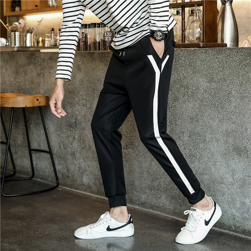 Men Pants With White Lining
