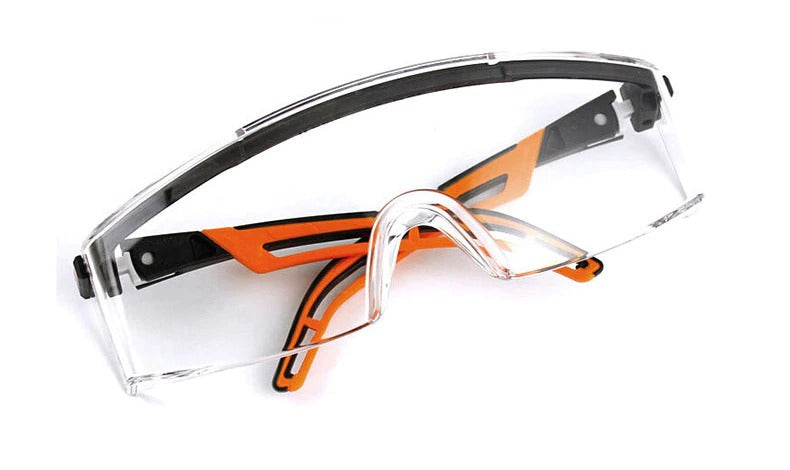 Orange Safety Goggles