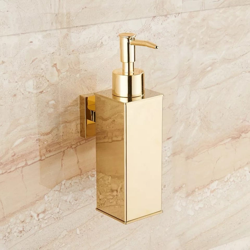 Gold Cuboid Soap Dispenser