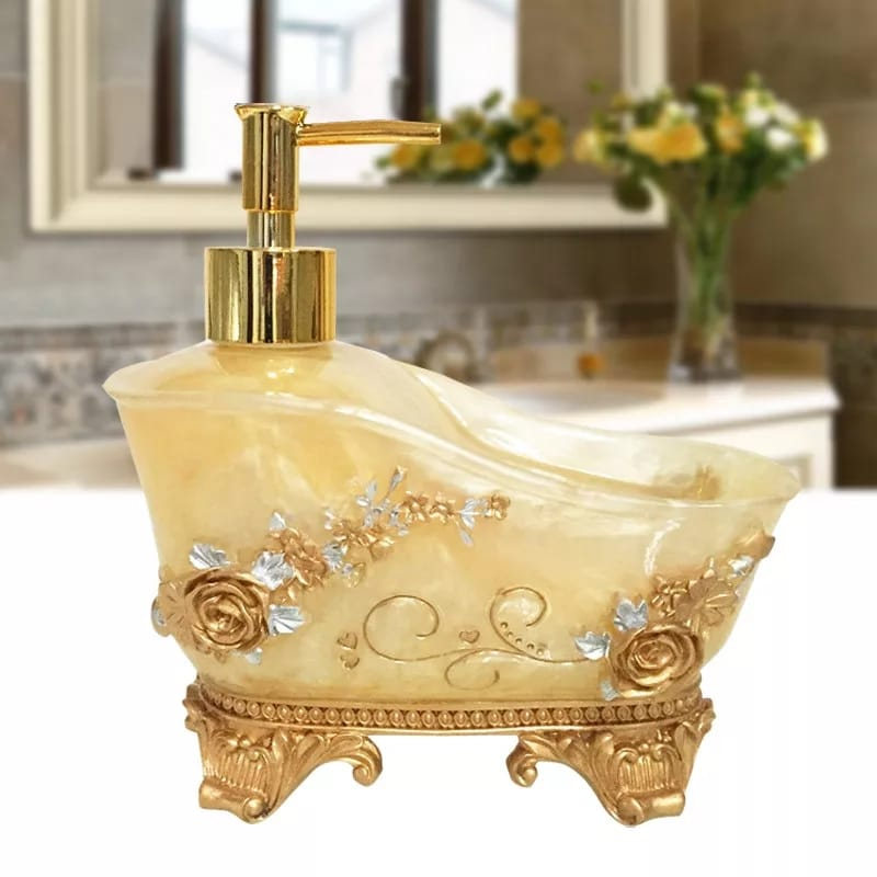 Gold Bath Tub Design Soap Dispenser