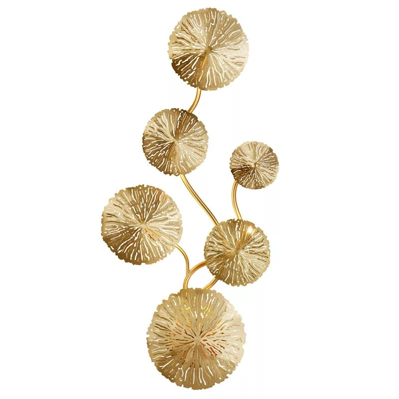 Gold Flower Design Wall Light