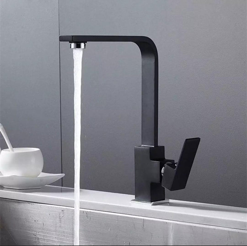 Black Tall Bathroom Faucet