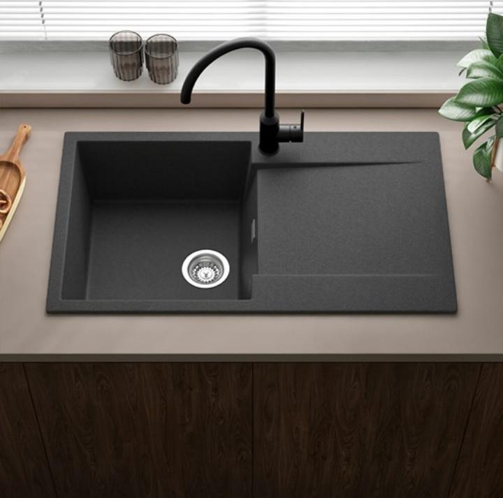 Plain Black Kitchen Sink