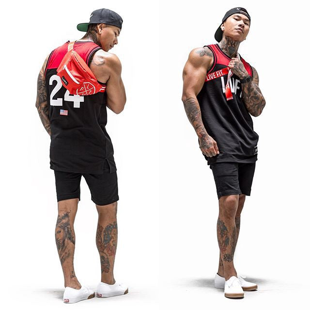 Men Patchwork Singlet