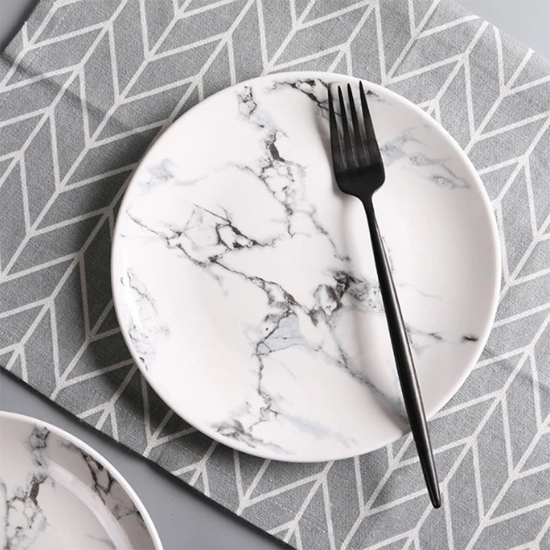 Marble Circle Plate