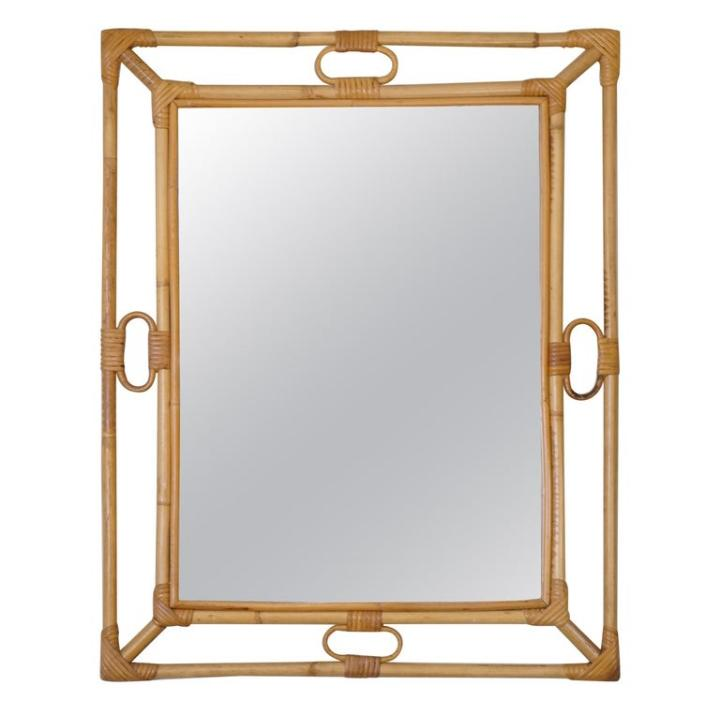 Rectangle Bamboo Mirror
