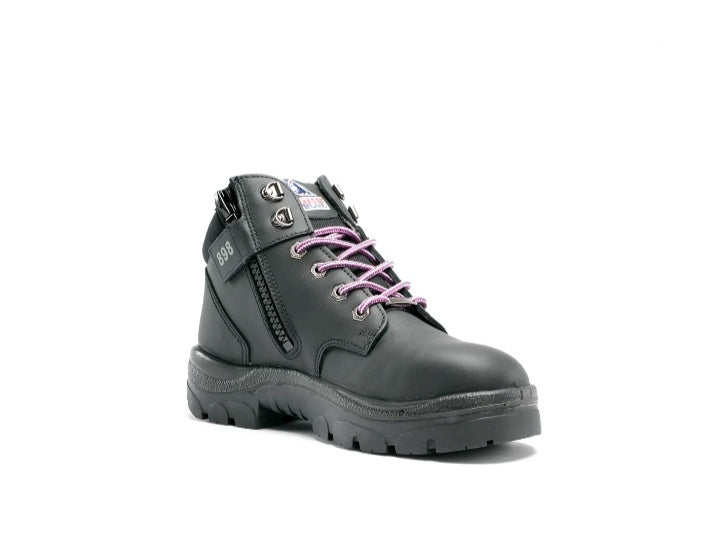 Ladies Pink Lace Safety Boots