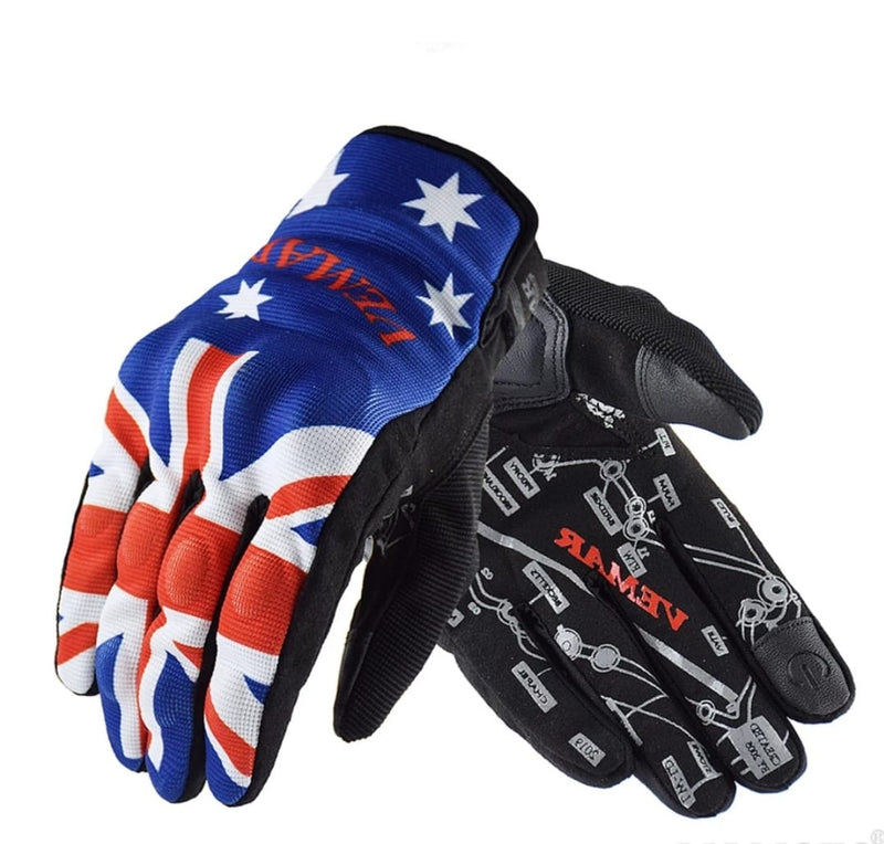 Men Flag Motorcycle Glove