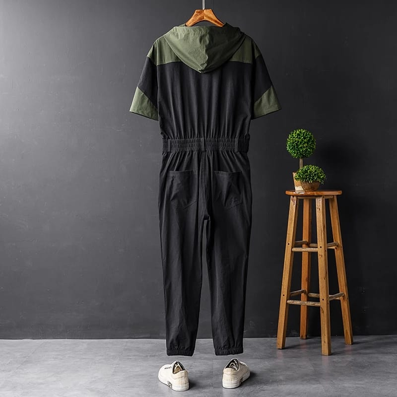 Men Green and Black Jumpsuit