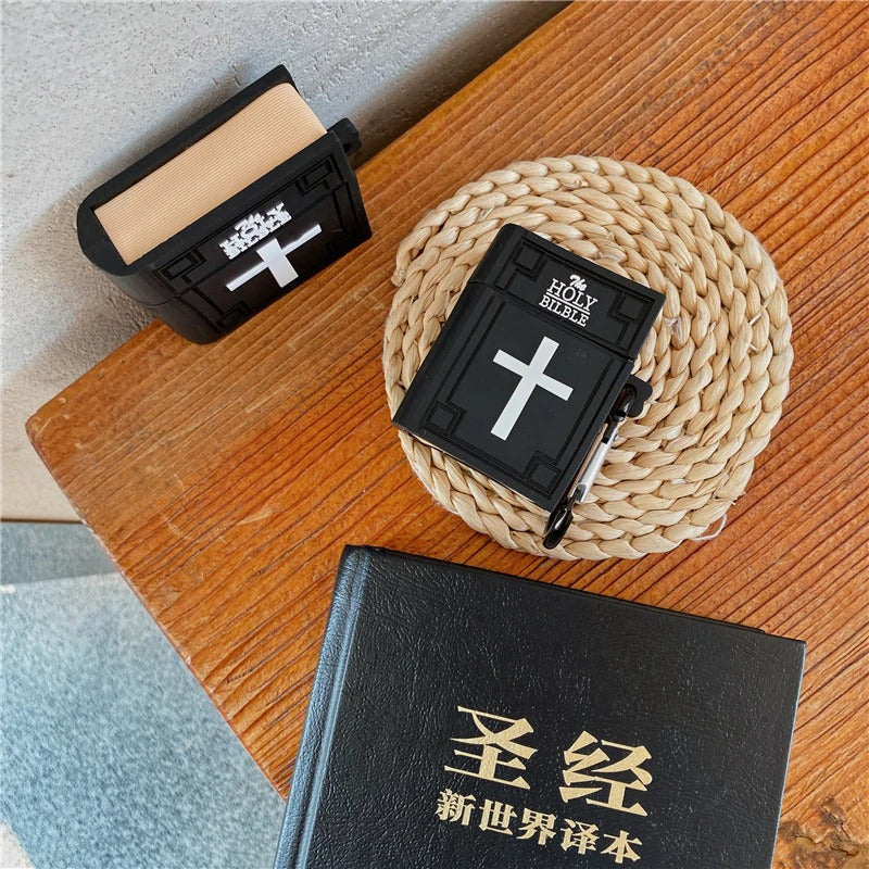 Black Bible Airpod Case