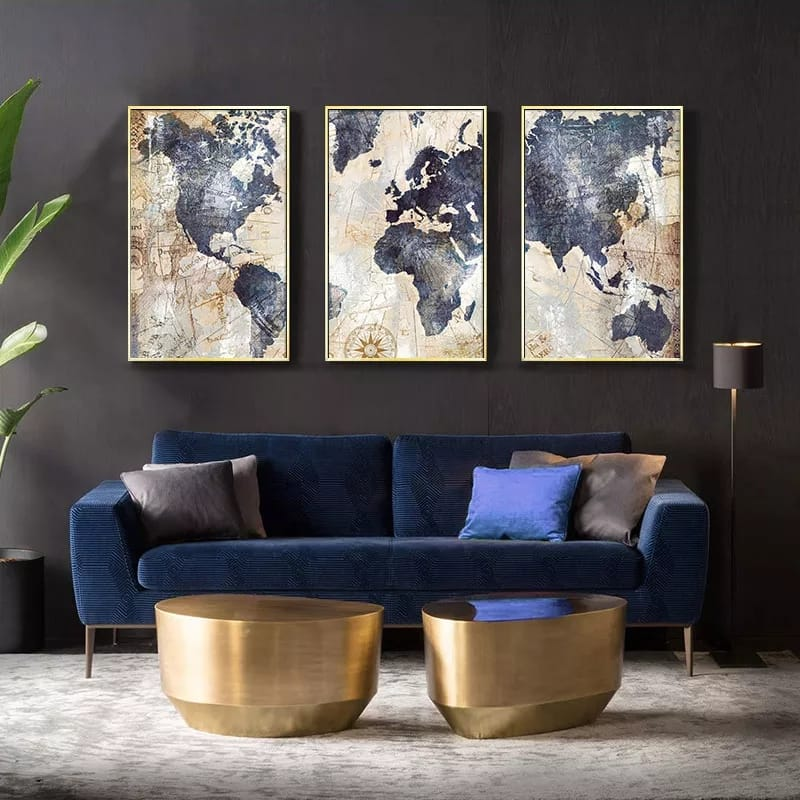 World Map Modern Canvas