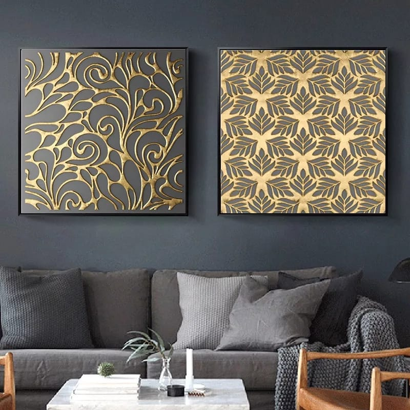 Gold and Grey Canvas