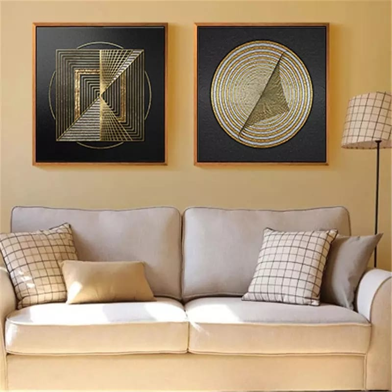 Black and Gold Modern Canvas