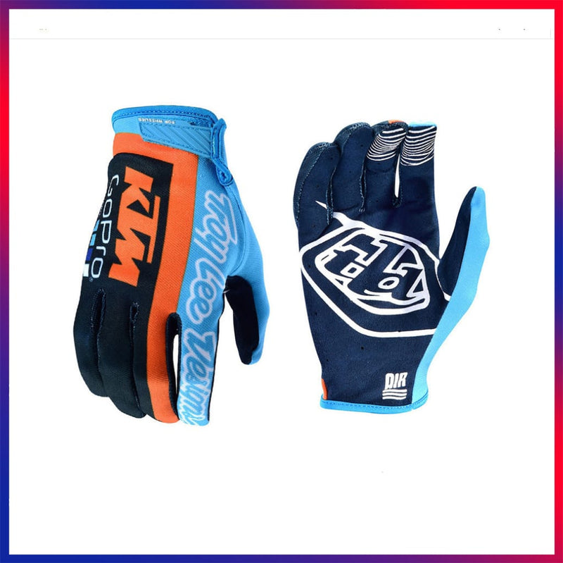 Blue and Orange Cycling Glove