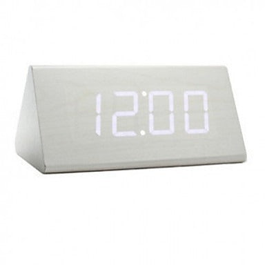 Triangle White LED Alarm Clock