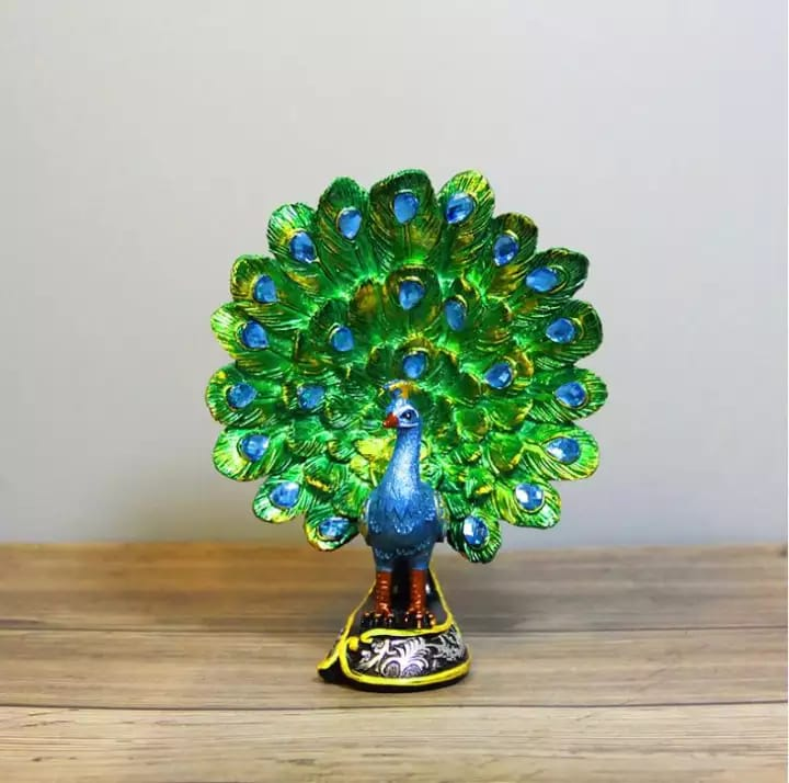 Resin Peacock Statue Deepavali Decor