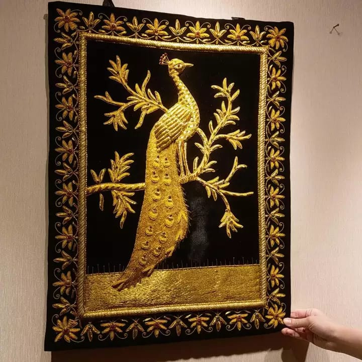 Black and Gold Tapestry